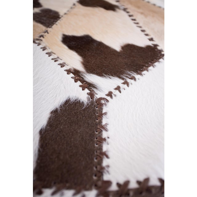 """Cowhide Patchwork Round Area Rug - 6'6""""x6'6"""" - Image 5 of 6"""