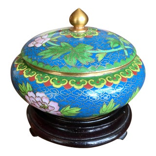 1970s Chinese Cloisonne Trinket Box For Sale