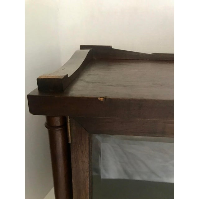 Antique Wood and Glass Display Cabinet For Sale - Image 9 of 10
