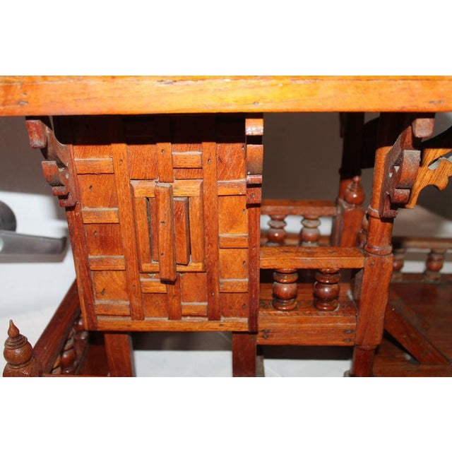 Brown Arts & Crafts Folk Art Thai Style Boat House For Sale - Image 8 of 11