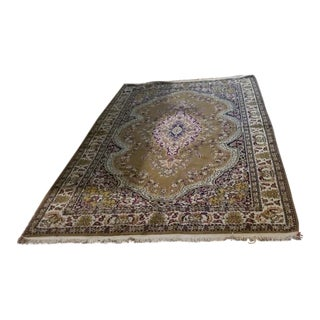 Antique Armenian Handmade Woven Tapestry Rug - 5′7″ × 9′ For Sale
