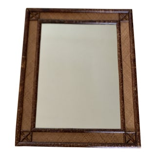 Burnished Bamboo Balinese Wall Mirror For Sale