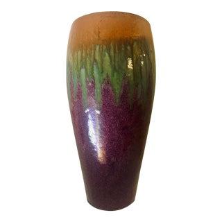 """Large 20"""" Vintage Raku Earthenware Vase For Sale"""