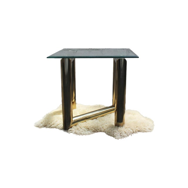 Pace Brass and Glass Side Table - Image 7 of 7