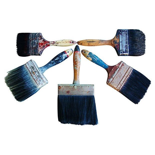 Vintage House Painter Brush Collection - Set of 5 - Image 1 of 2