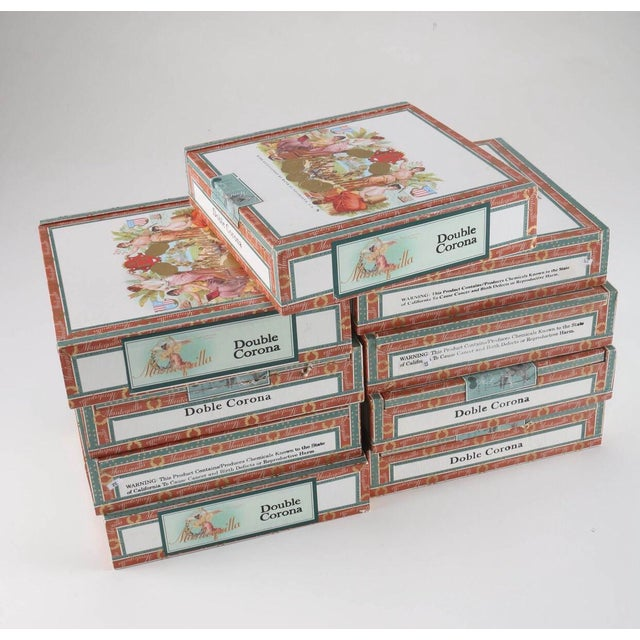 Wood Vintage Mantequilla Cigar Boxes - 9 Pieces For Sale - Image 7 of 7