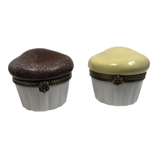 Limoges Souffle Trinket Boxes - Set of 2 - Image 1 of 10