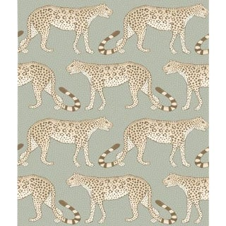 Cole & Son Leopard Walk Wallpaper Roll - Olive & White For Sale