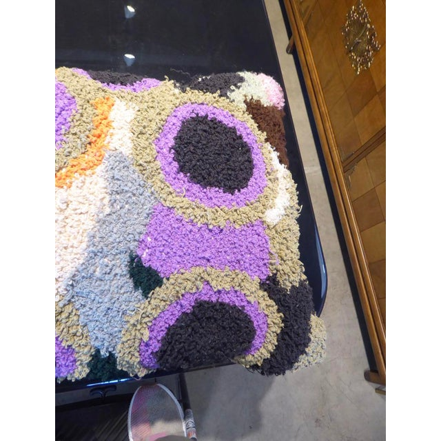 2010s One-Of-A-Kind Large Hand-Woven Moroccan Pillow For Sale - Image 5 of 10