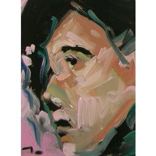 Jose Trujillo Original Modern Expressionist Face Portrait Oil Painting For Sale