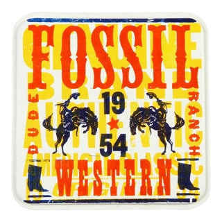 Fossil Dude Ranch Watch Tin Box For Sale