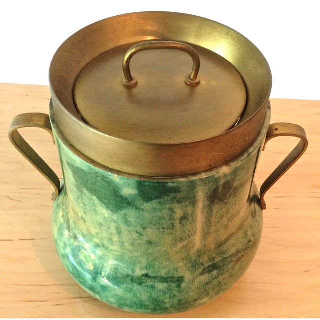 Aldo Tura Lacquered Goatskin Ice Bucket - Image 5 of 8