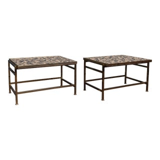 Dunbar Murano Tile Top Tables For Sale