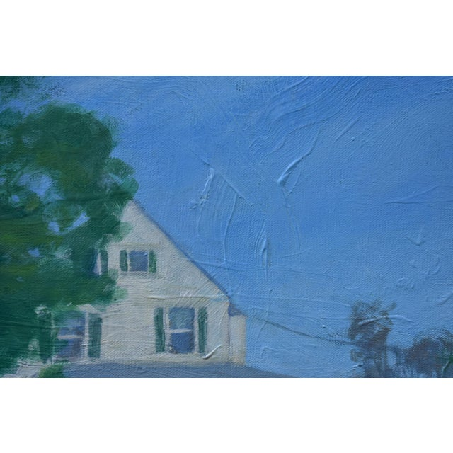 """Stephen Remick Stephen Remick """"House Behind the Tree by the Road"""" Contemporary Painting For Sale - Image 4 of 10"""