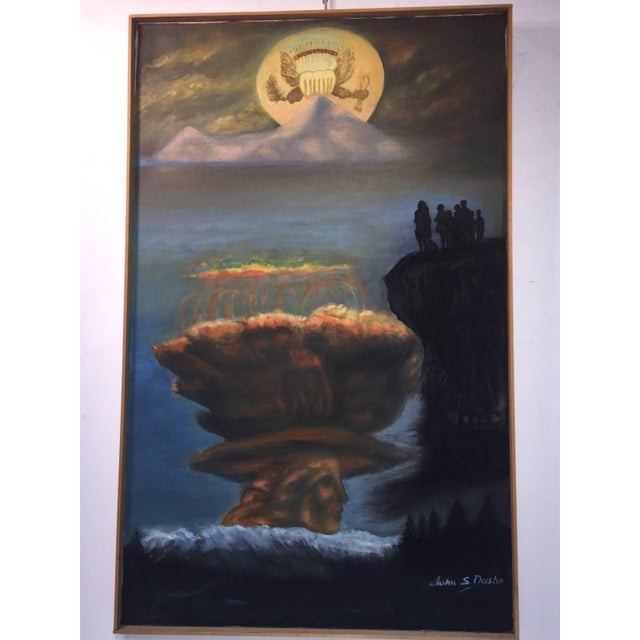 Modern World Peace Painting by Artist John Dasho For Sale - Image 4 of 10
