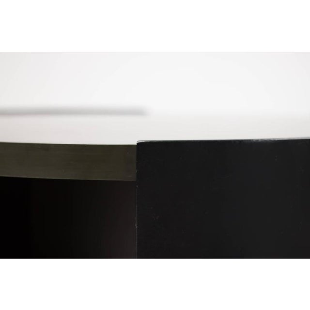 Animal Skin Rolling Bar Table by Eugenio Gerli for Tecno For Sale - Image 7 of 10