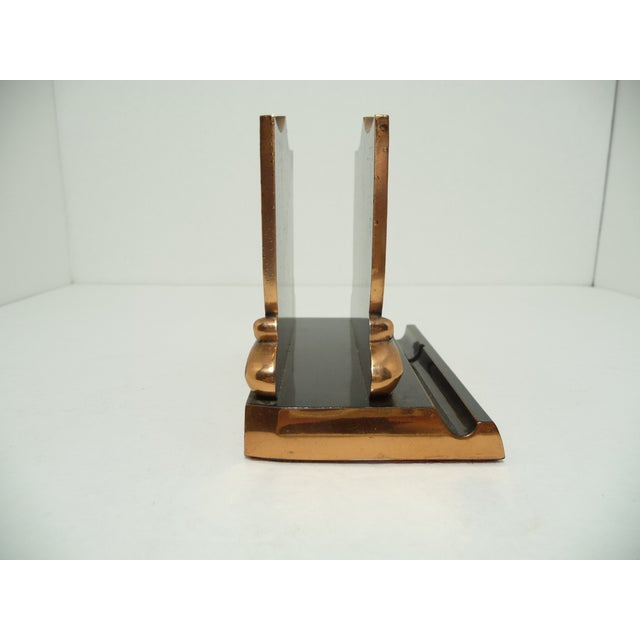 French Fleur De Lis Copper Finish Letter Holder - Image 4 of 7