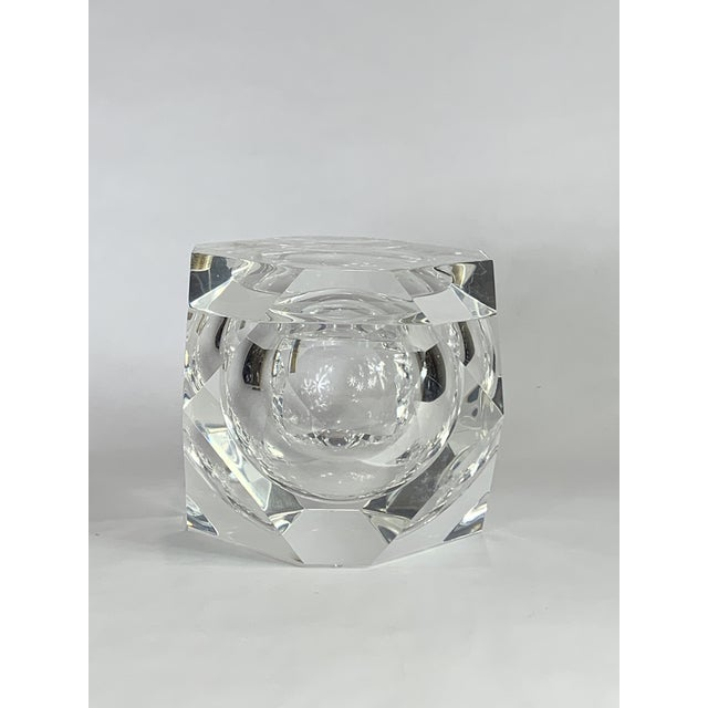 Mid 20th Century Vintage Geometric Shapes Lucite Covered Box For Sale - Image 5 of 5