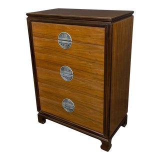 """American Midcentury """"Chinese-Modern"""" Chest of Drawers For Sale"""