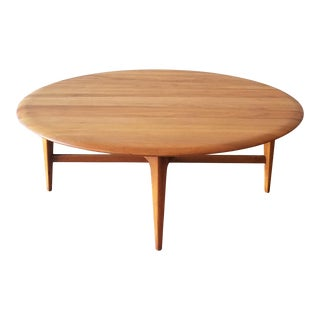 Mid-Century Modern Round Maple Coffee Table For Sale