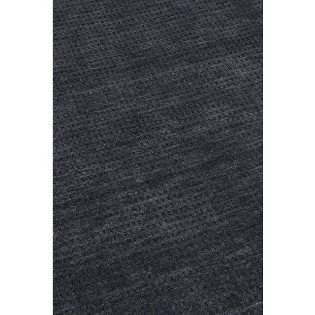 Exquisite Rugs Worcester Handwoven Wool Charcoal - 10'x14' For Sale - Image 4 of 6