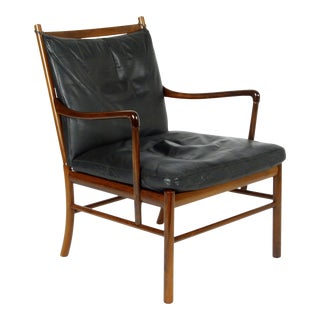 """Danish Modern Rosewood Ole Wanscher Pj 149 """"Colonial"""" Lounge Chair For Sale"""