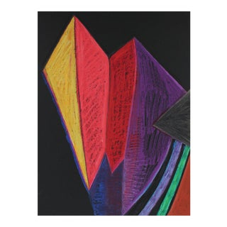 Michael di Cosola Bright Geometric Abstract in Pastel, Late 20th Century