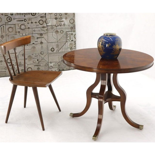 Late 20th Century Flame Mahogany Round Top Lamp Table by Century For Sale - Image 5 of 13