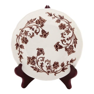 English Royal Staffordshire J & G Meakin Wondsong Brown Transferware Plate For Sale