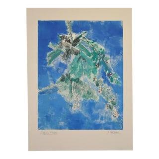 """Arthur Krakower (1921-2009) """"Aspen Flower"""" Original Monotype C.2004 For Sale"""