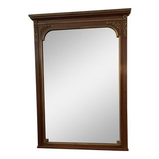 19th Century French Fluted Empire Mahogany Mirror For Sale
