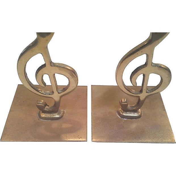 Brass Treble Clef Bookends- A Pair - Image 2 of 3