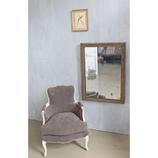 French Mercury Mirror with Wooden Back - Image 8 of 11