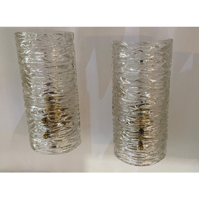 Kalmar Mid-Century Modern Kalmar Glass Sconces - a Pair For Sale - Image 4 of 9