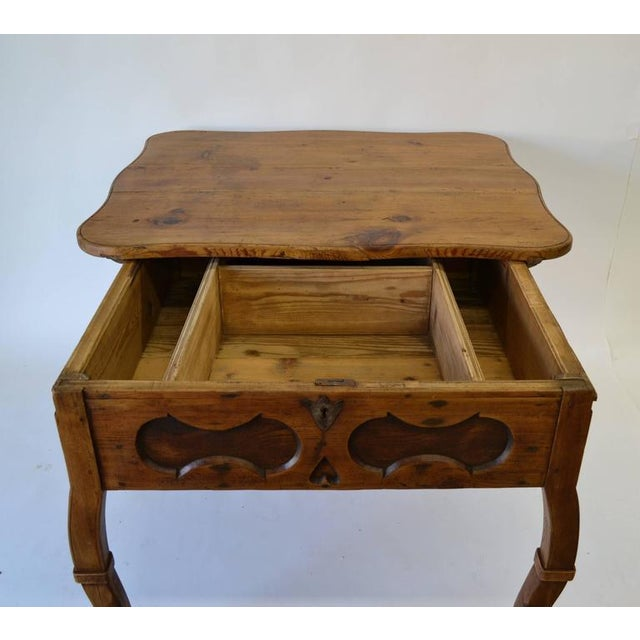 Wood Pitch Pine and Oak Baroque Revival Centre Table For Sale - Image 7 of 8