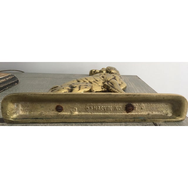 Mid 20th Century Vintage Mid-Century Harvin Brass Dog Doorstop For Sale - Image 5 of 6