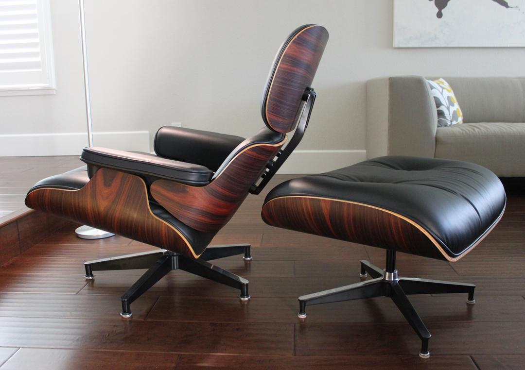 Herman Miller Eames Lounge Chair U0026 Ottoman With Oiled Palisander   Image 2  Of 11