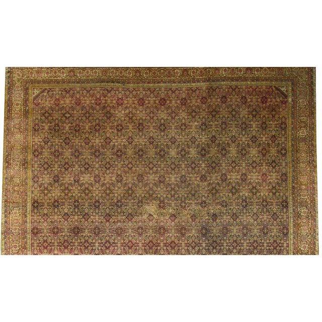 Antique Indian Agra Gallery Rug with Modern Style For Sale - Image 5 of 6