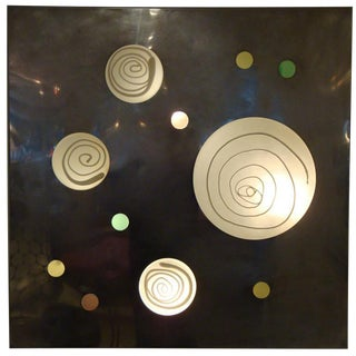Angelo Brotto Mid-Century Lit Wall Piece For Sale