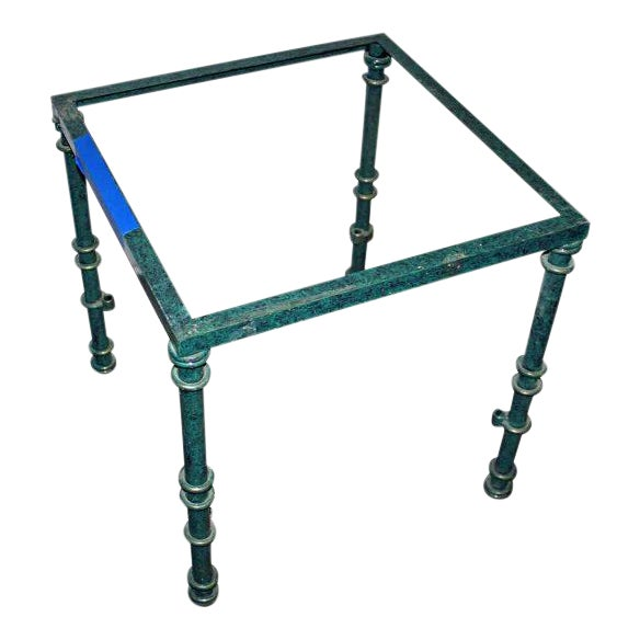 Green Metal Table Base For Sale