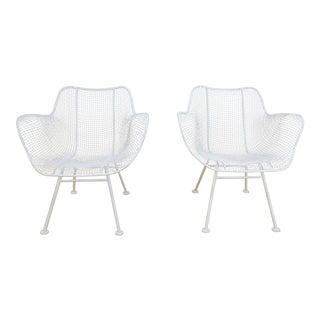 1950s Mid Century Modern Russell Woodard Sculptura Patio Arm Chairs - a Pair