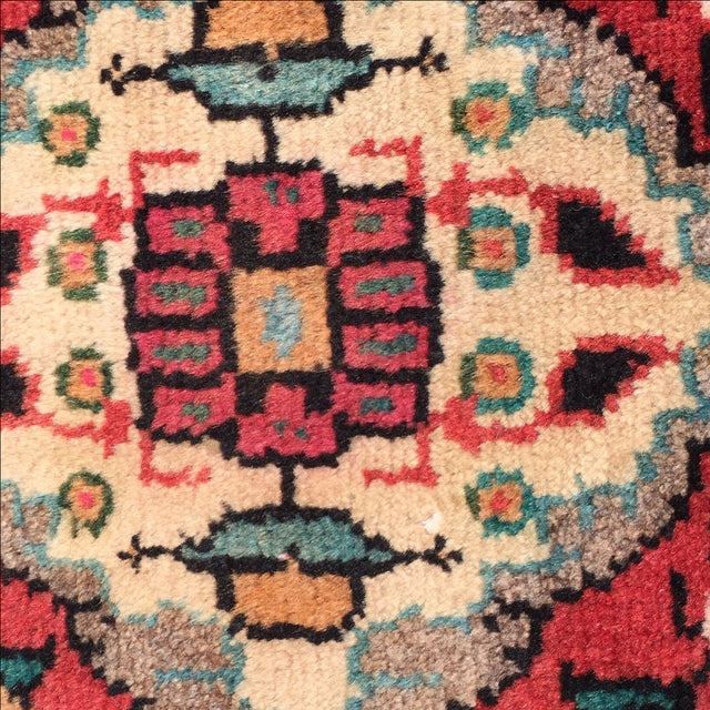 Hamadan Persian Rug - 1′6″ × 2′ - Image 7 of 8