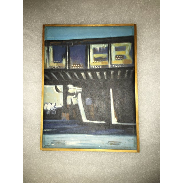 Canvas Beach House Oil Painting For Sale - Image 5 of 5