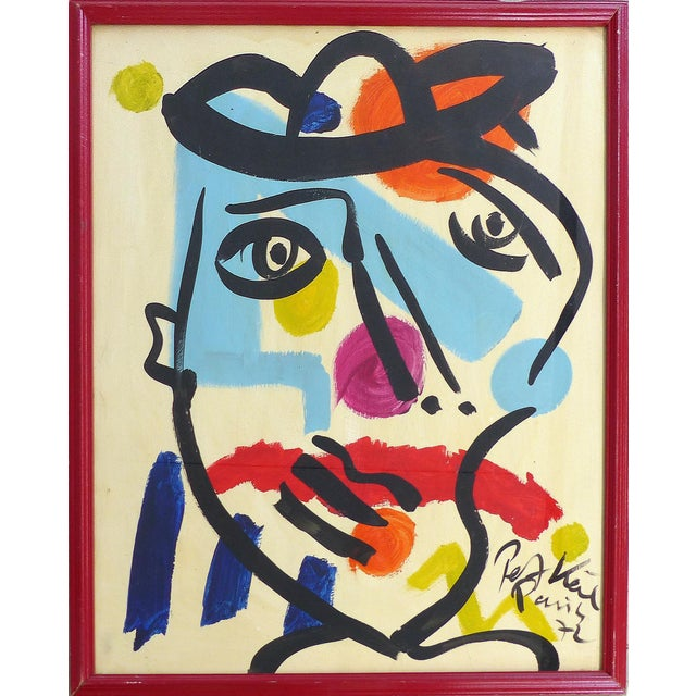 1972 Modern Colorful Self Portrait by Peter Keil For Sale - Image 11 of 11