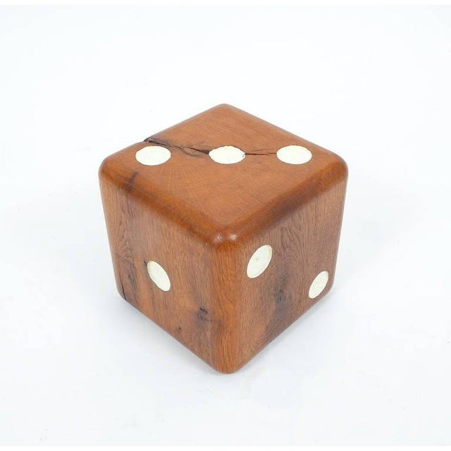 Mid-Century Modern Large Solid Wooden Dice, circa 1950 For Sale - Image 3 of 6