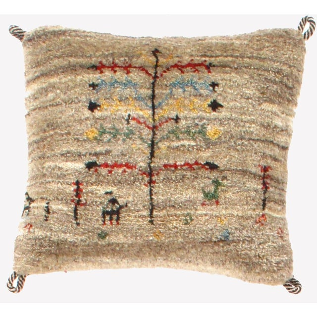 Persian Persian Gabbeh Lori Baft Pillow For Sale - Image 3 of 3