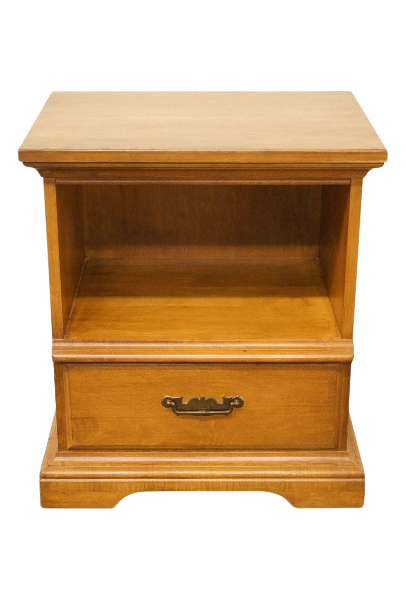 Perfect Late 20th Century Vintage Pennsylvania House Maple Nightstand