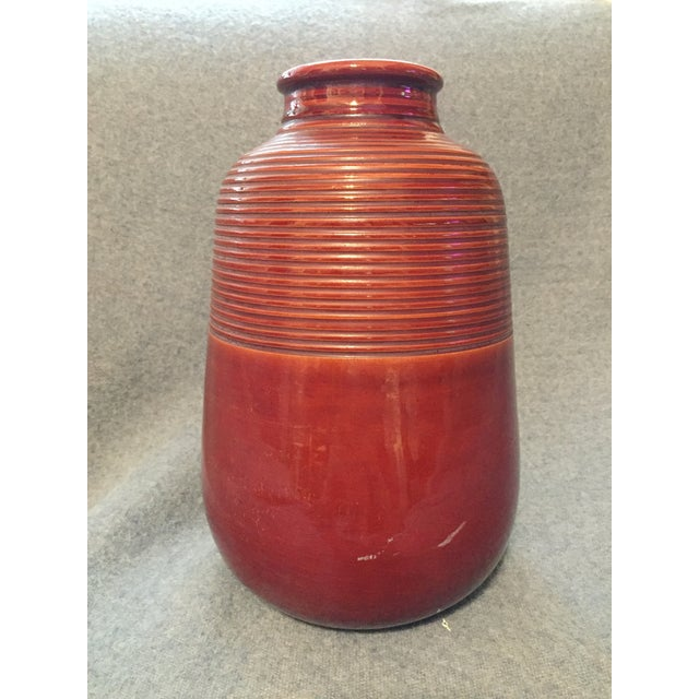 Mid 20th Century Italian Mid-Century Modern Terra Cotta Vase For Sale - Image 5 of 12
