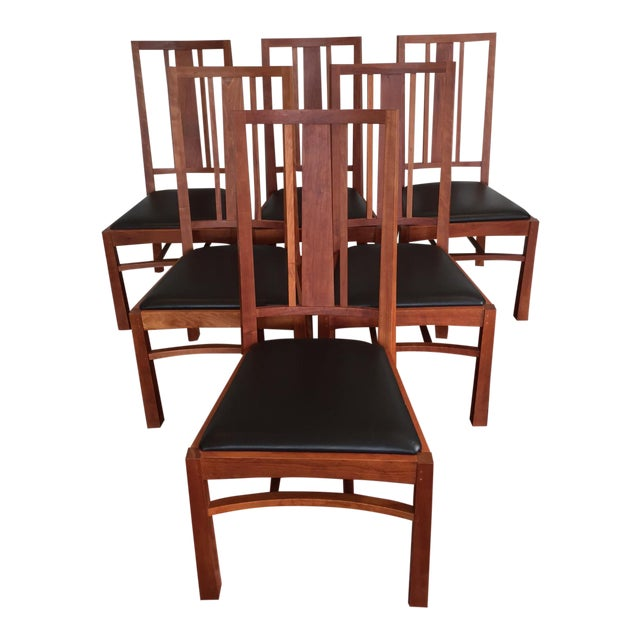 Thomas Moser American Bungalow Chairs - Set of 6 - Image 1 of 6