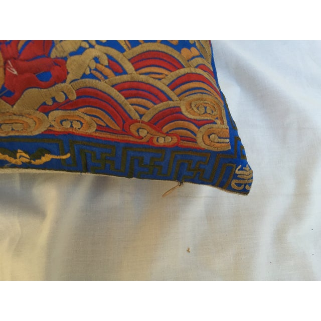 Chinoiserie Silk Crane Boudoir Pillow For Sale In Los Angeles - Image 6 of 7